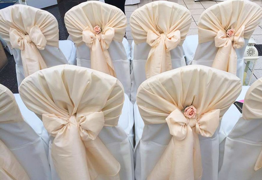 Chair Cover Hire   Sash Bows Hire   Wedding Table Swagging ...