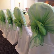 Crisp white cotton fitted chair covers