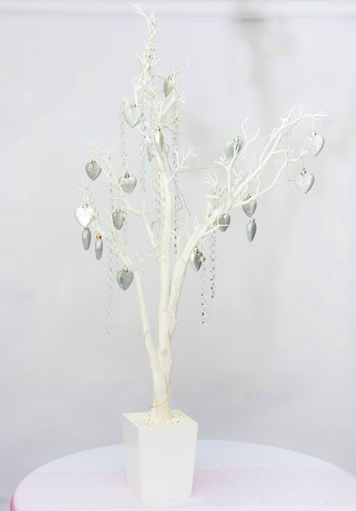 Wedding crystal tree with silver decorations
