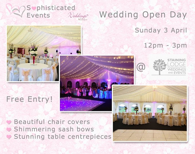 WEDDING OPEN DAY Staining Lodge Sunday 3 April 2016